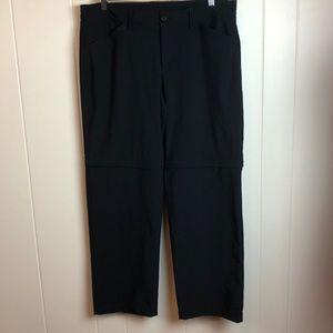 Eddie Bauer Black Zip Off Warm Up Track Pants